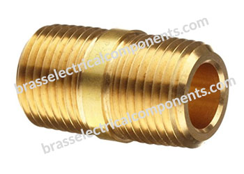 brass close nipple