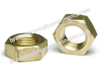 brass hex jam nut