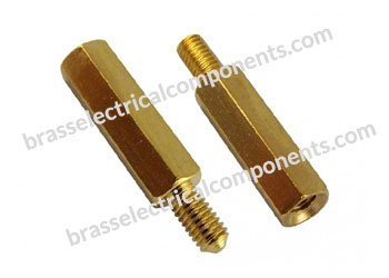 brass male female spacer