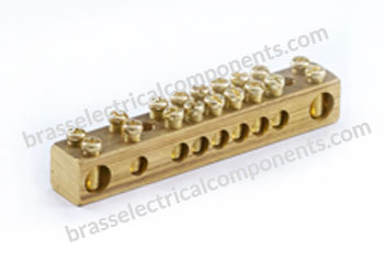 Brass Neutral links 4 way