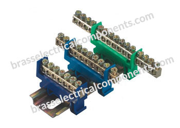 Brass Neutral Links DIN Rail
